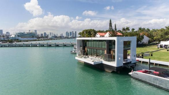 A picture of a floating home in Florida.