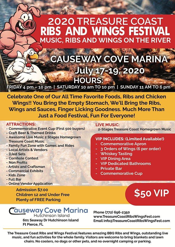 2020 Treasure Coast Ribs and Wings Festival Poster