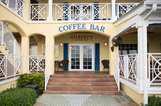 a Photo of Gilberts Coffee Bar entrance.