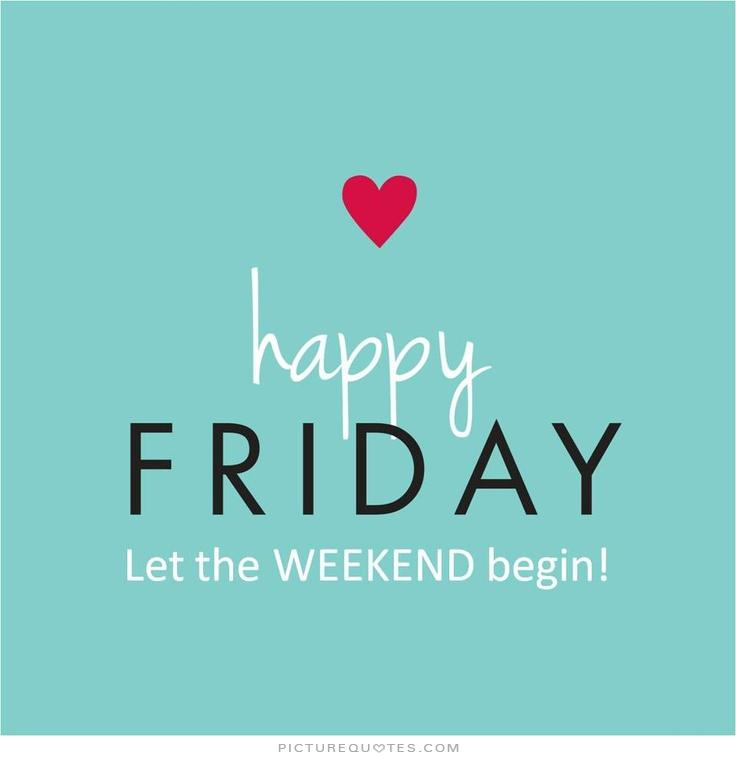 Graphic Saying Happy Friday, let the weekend begin for Treasure Coast Weekend Happenings
