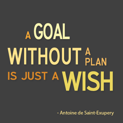 Word Graphic saying... A Goal Without A Plan Is Just A Wish