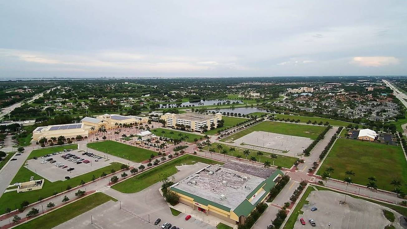 Aerial View of Port St. Lucie's Civic Center complex