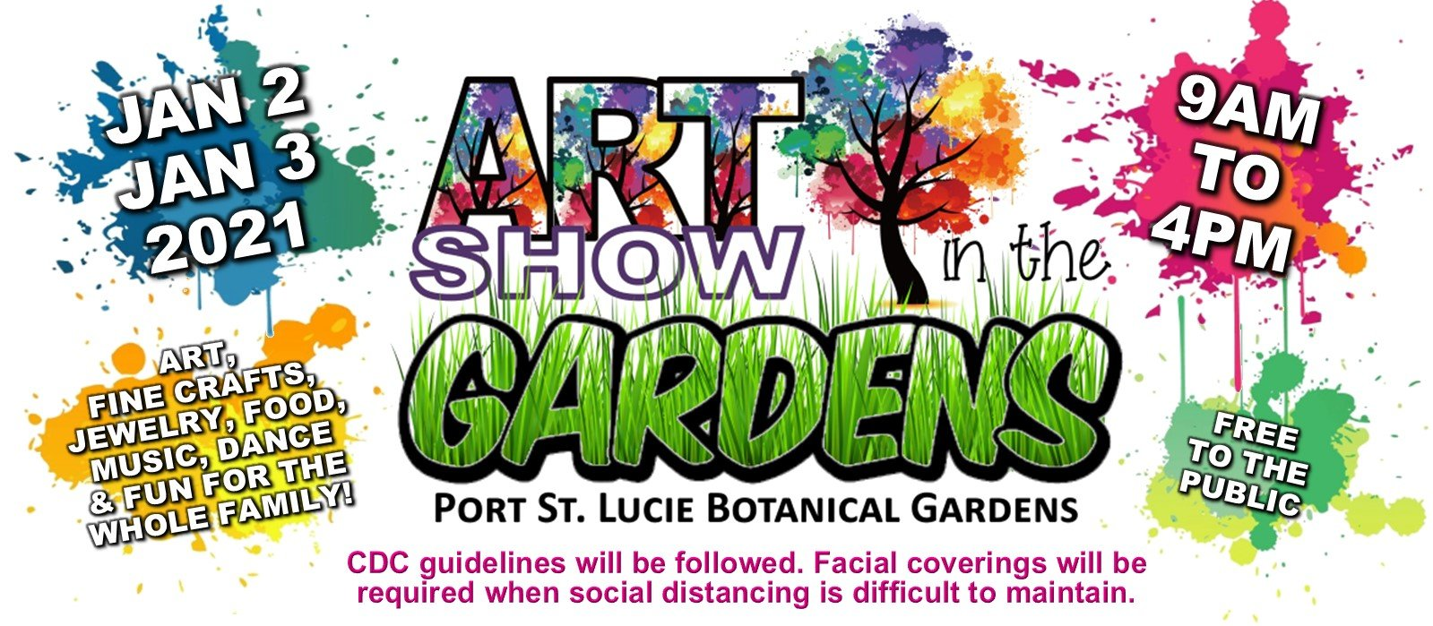 Graphic representing the 2nd Annual Art Showin the Gardens at the Port st. Lucie Botanical Gardens.