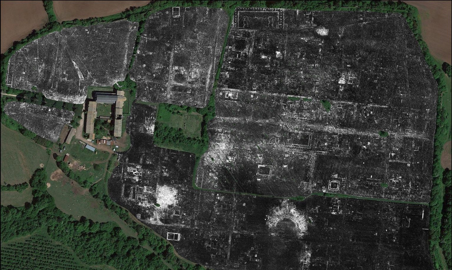 Buried Roman City Mapped in Stunning Detail Using Ground-Penetrating Radar