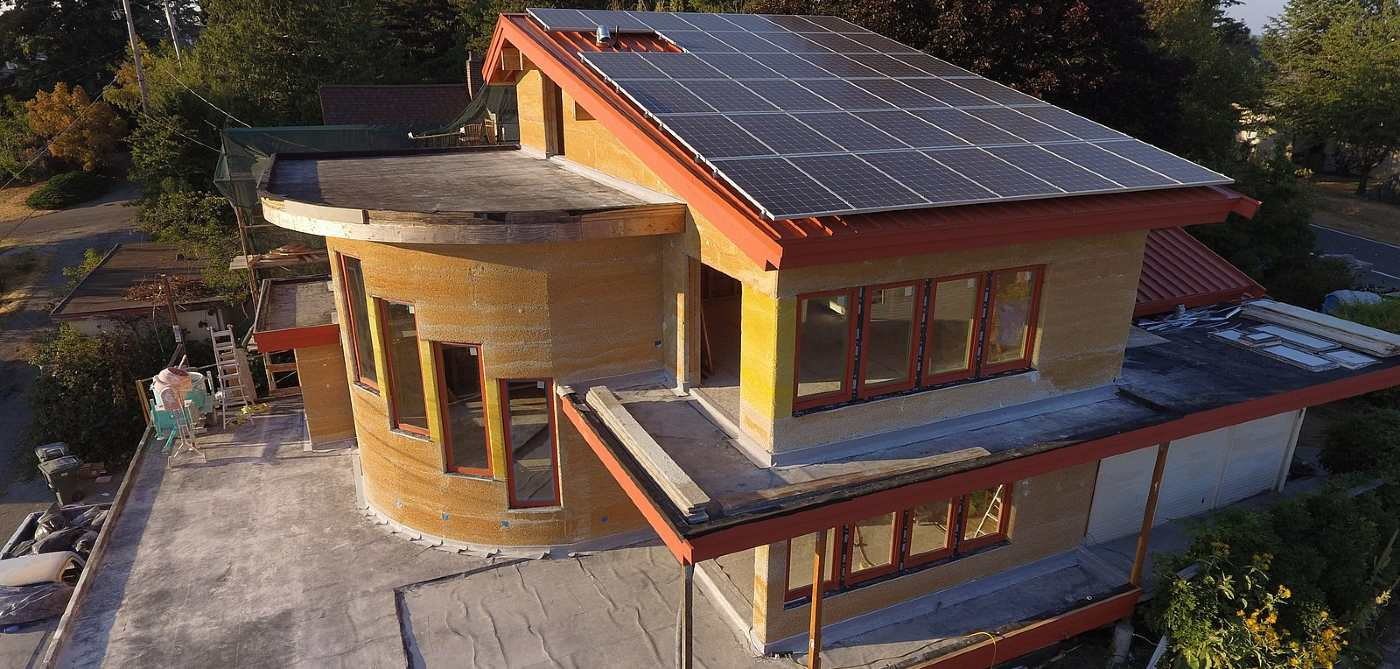 Construction using hemp - Picture of a home created out of Hemp