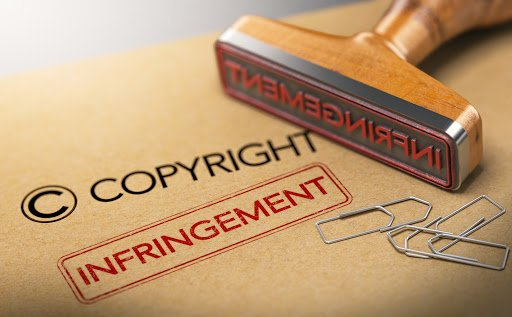 Copyright Infringement Graphic to represent photo copyright lawsuits