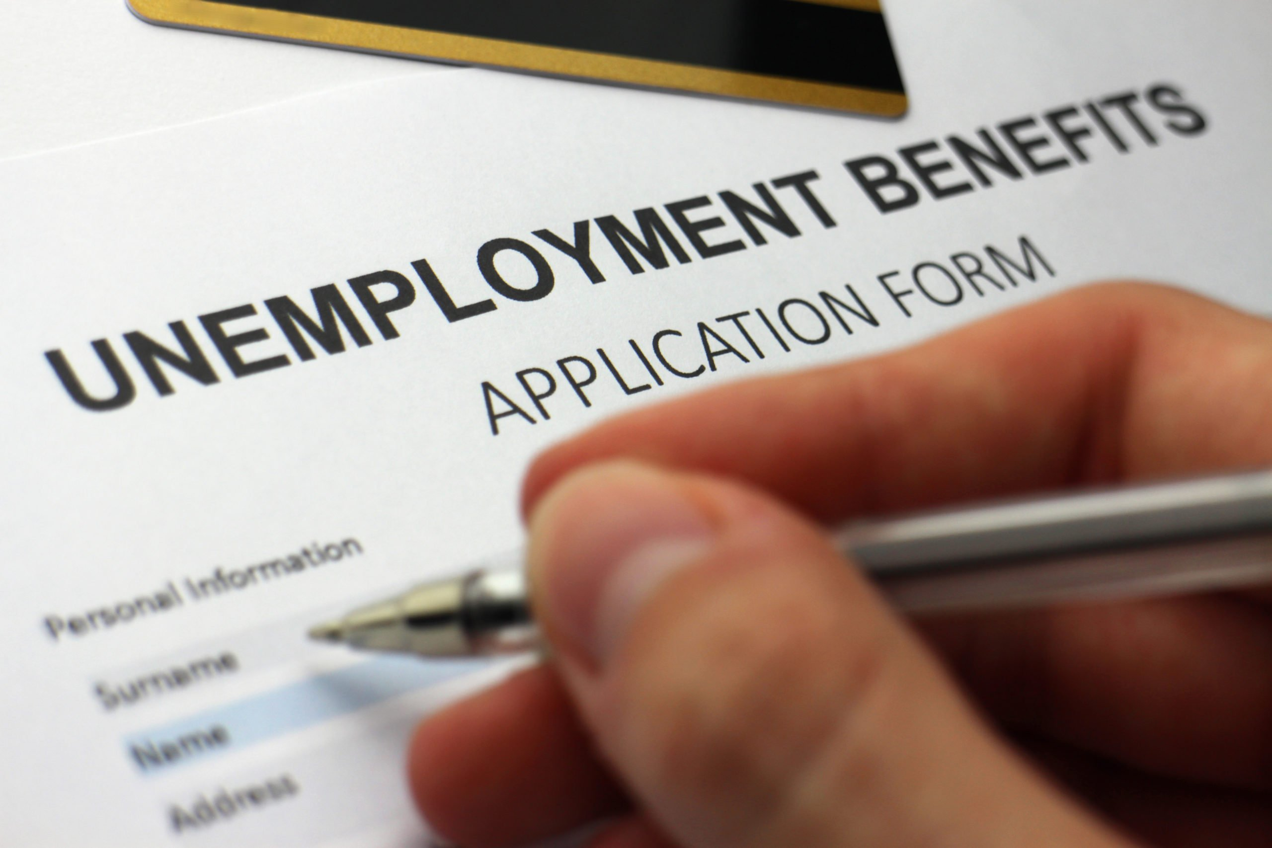 Sample Graphic of an Unemployment Benefits Application Form