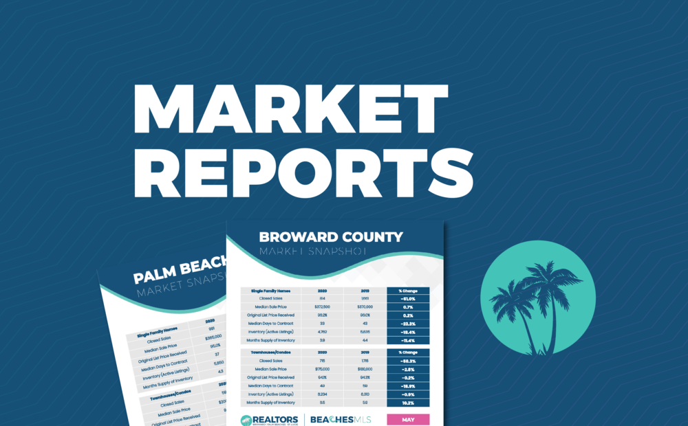 Graphic for Market Reports from the St Lucie Realtors representing how this blazing summer sets new record high in St. Lucie County