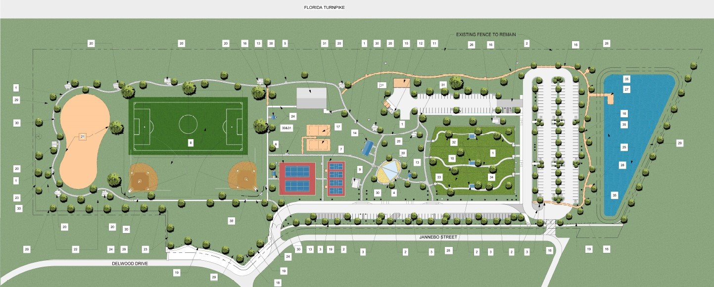 Graphic of the new Port St. Lucie neighborhood park in the Torino Neighborhood.