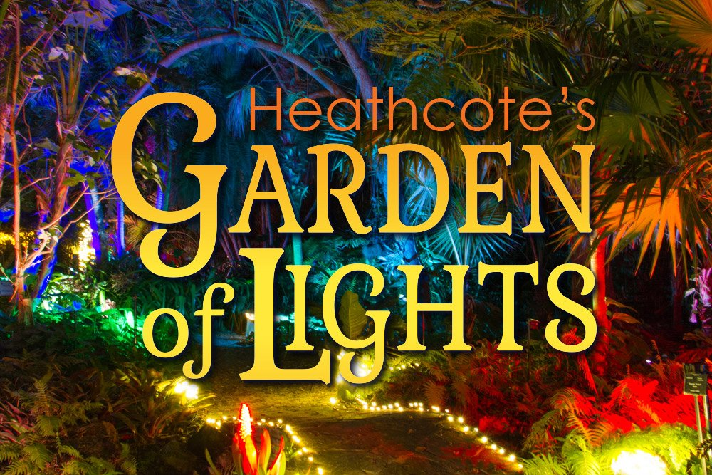 Graphic representing Heathcote's Garden of Lights