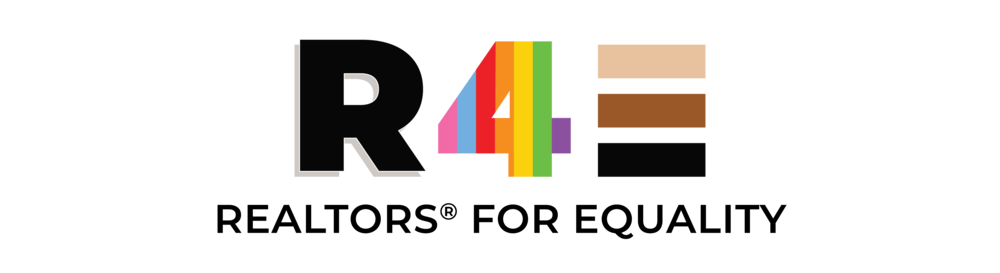 Graphic representing June is National Homeownership and Pride Month - Realtors for Equality.