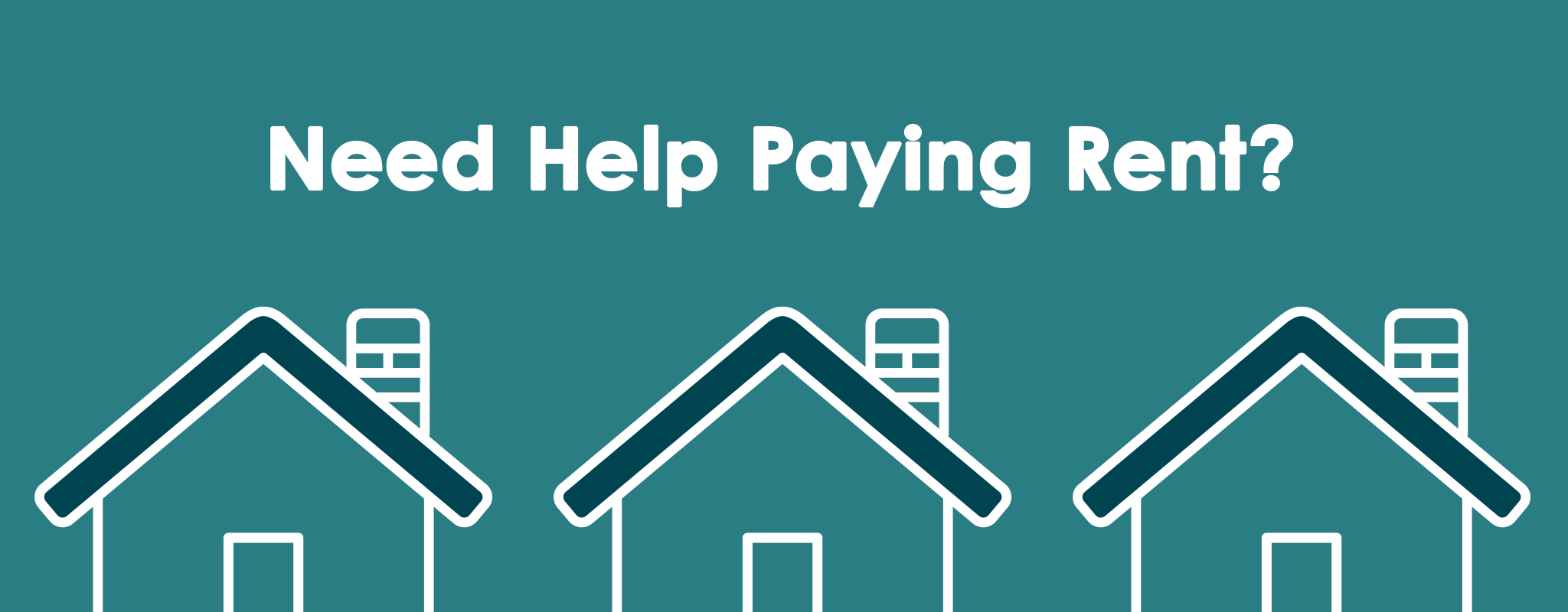 Graphic representing rental assistance program and showing the words need help paying rent