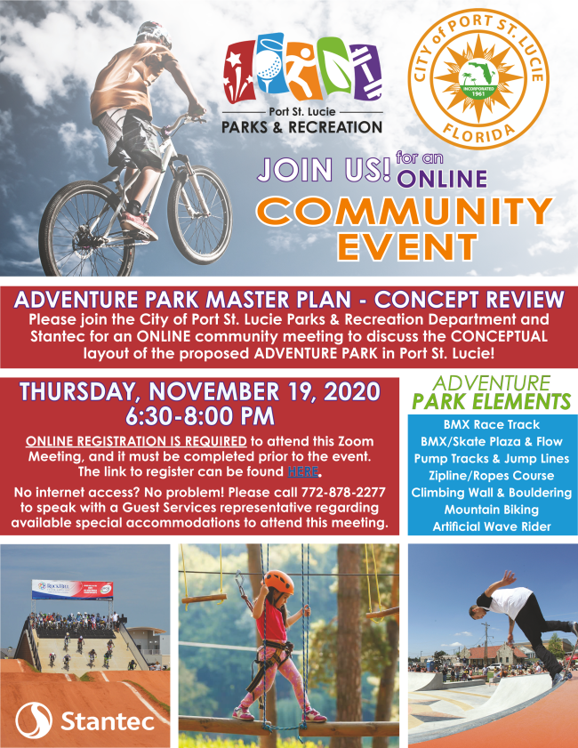 Graphic representing the Adventure Park Planning Session