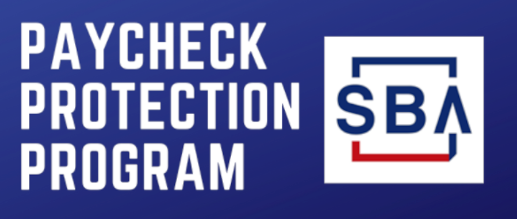 Graphic representing the SBA PPP and the words Paycheck Protection Program