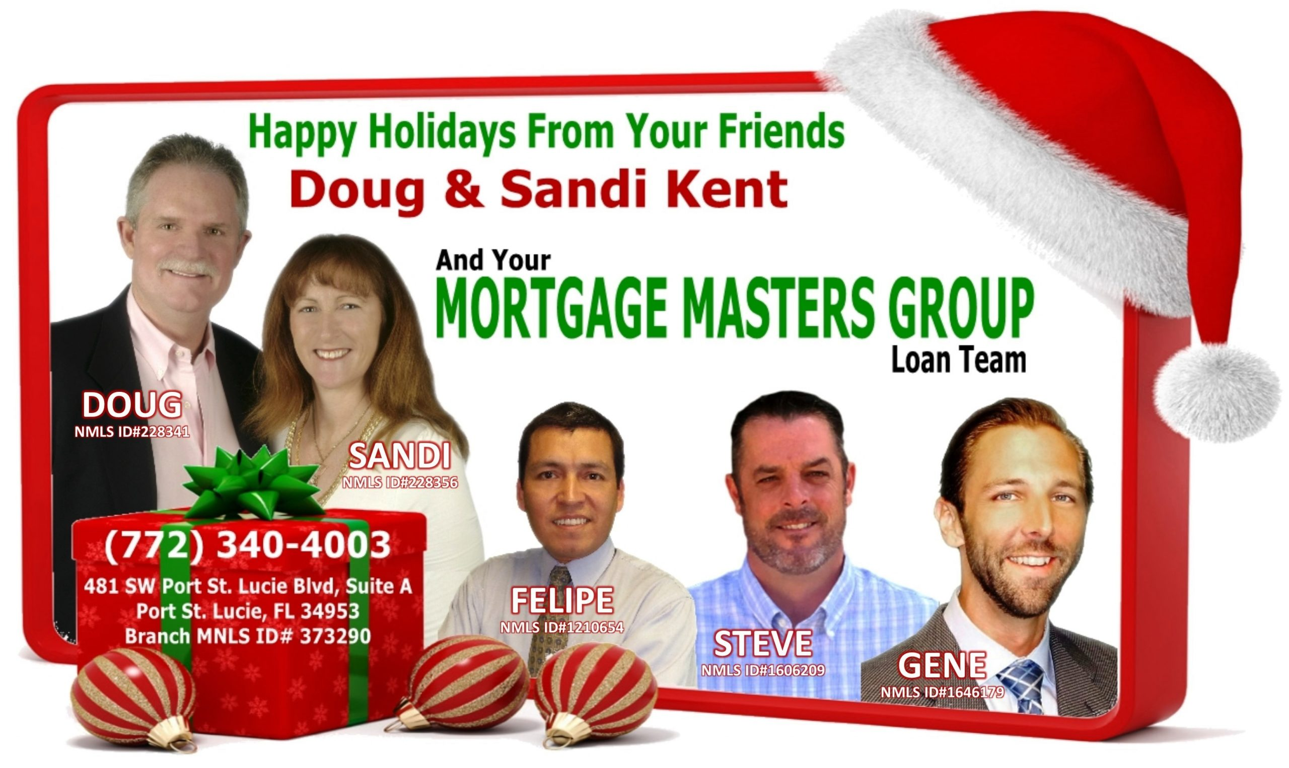 Holiday Greetings Video Slide featuring the entire Mortgage Masters Team