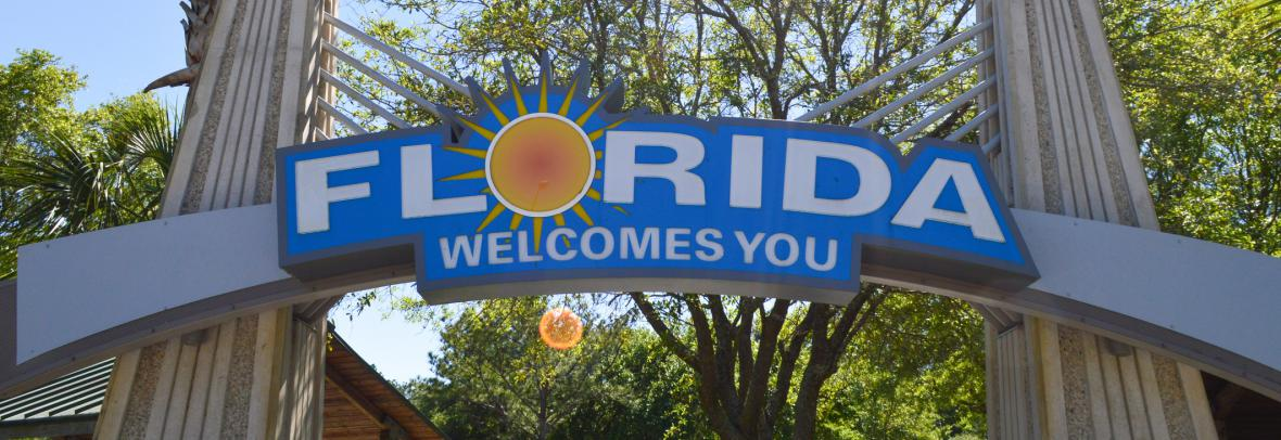 Image of Florida Welcomes You to represent the Florida Census Analysis and Florida Population Growth
