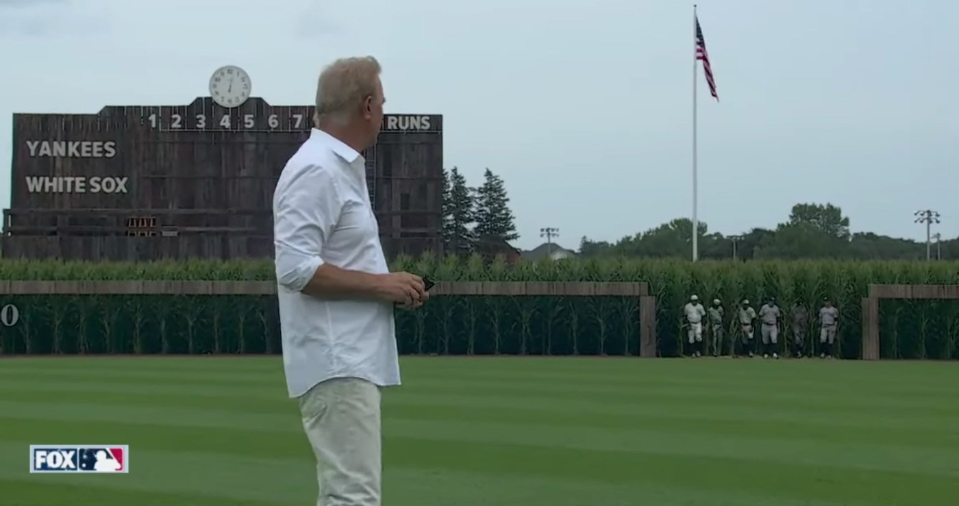 Is This Heaven - Kevin Costner Hosts Real Baseball Game at Field of Dreams Site