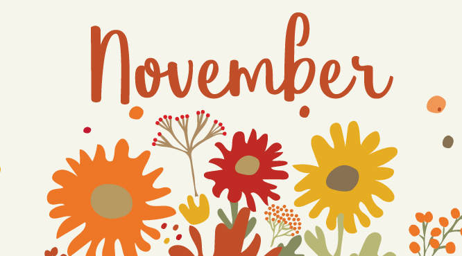 Month of November Graphic.