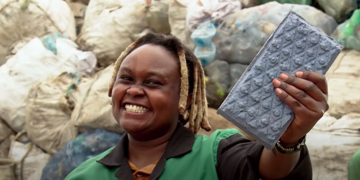 Photograph of Nzambi Matee, a Kenyan Woman's Startup - Recycled Plastic Waste into Bricks That Are 5x Stronger Than Concrete