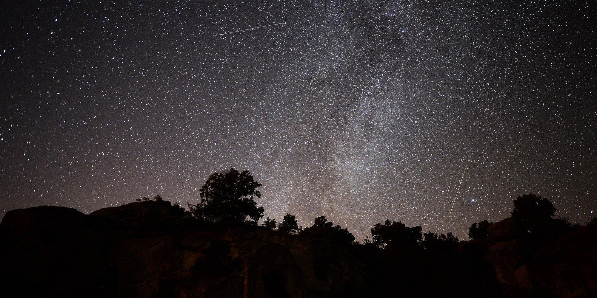 Perseid meteor shower - Perseid meteors streak across the night sky in Turkey on Aug. 13, 2019.