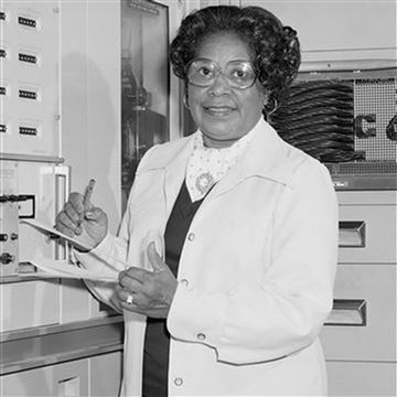Photograph of Mary Winston Jackson, the first female African American NASA engineer. NASA names D.C. headquarters after her.
