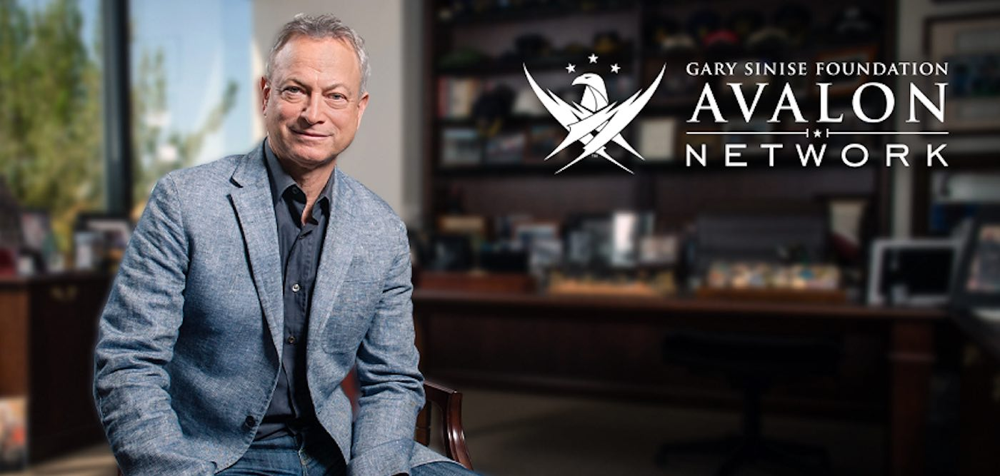 Picture of Gary Sinise in an office representing the Avalon Network and the Gary Sinise Foundation