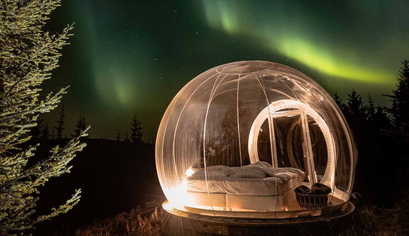 Picture of a Hotel Buubble room under the star in Iceland