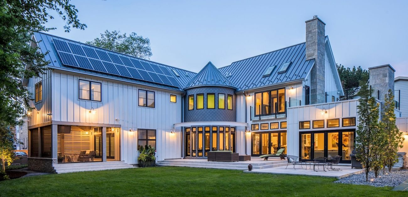 Picture of a home with solar panels on the roof