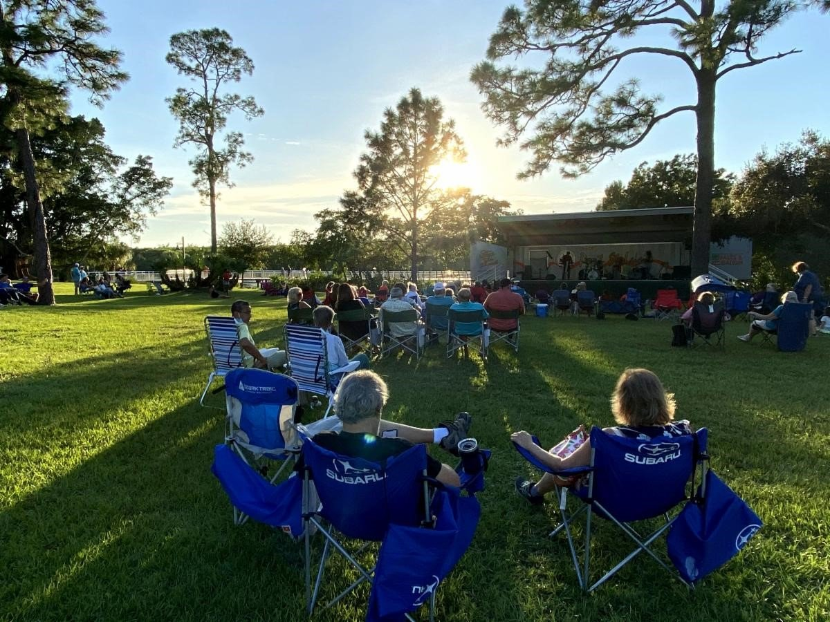Picture of people enjoying River Nights on the St. Lucie river