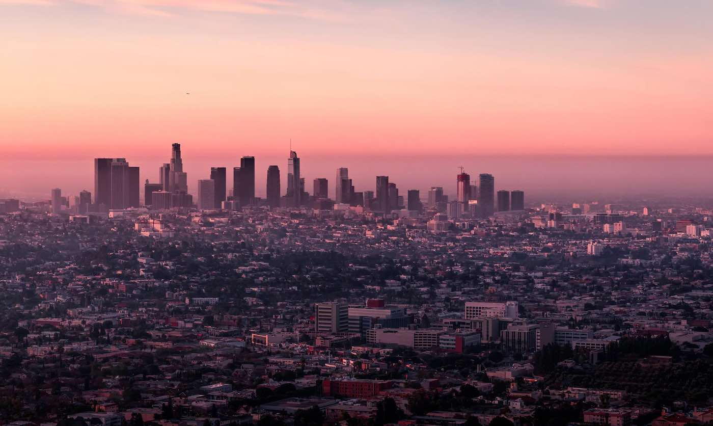 Picture of the Los Angeles skyline