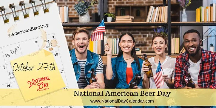 Picture of young adults celebrating National American Beer Day