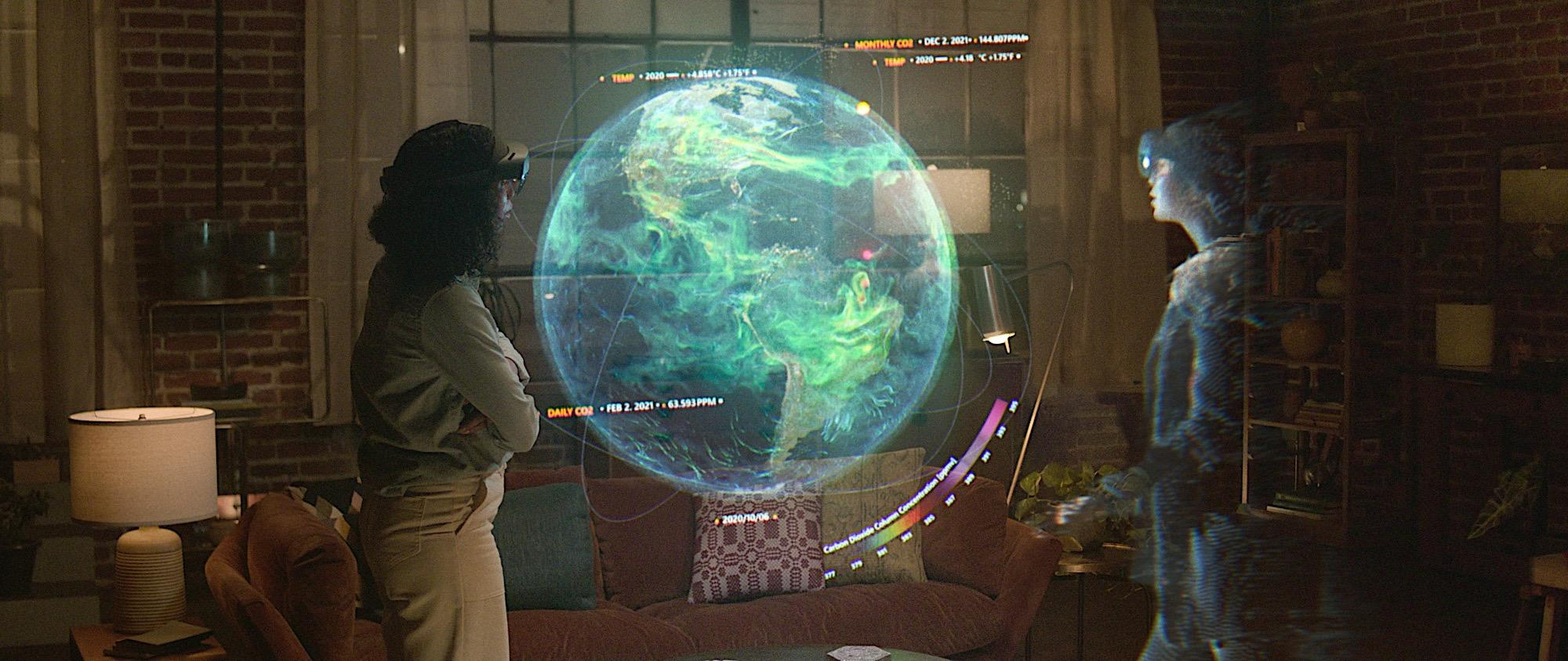 Picture representing the future of office meetings using holograms