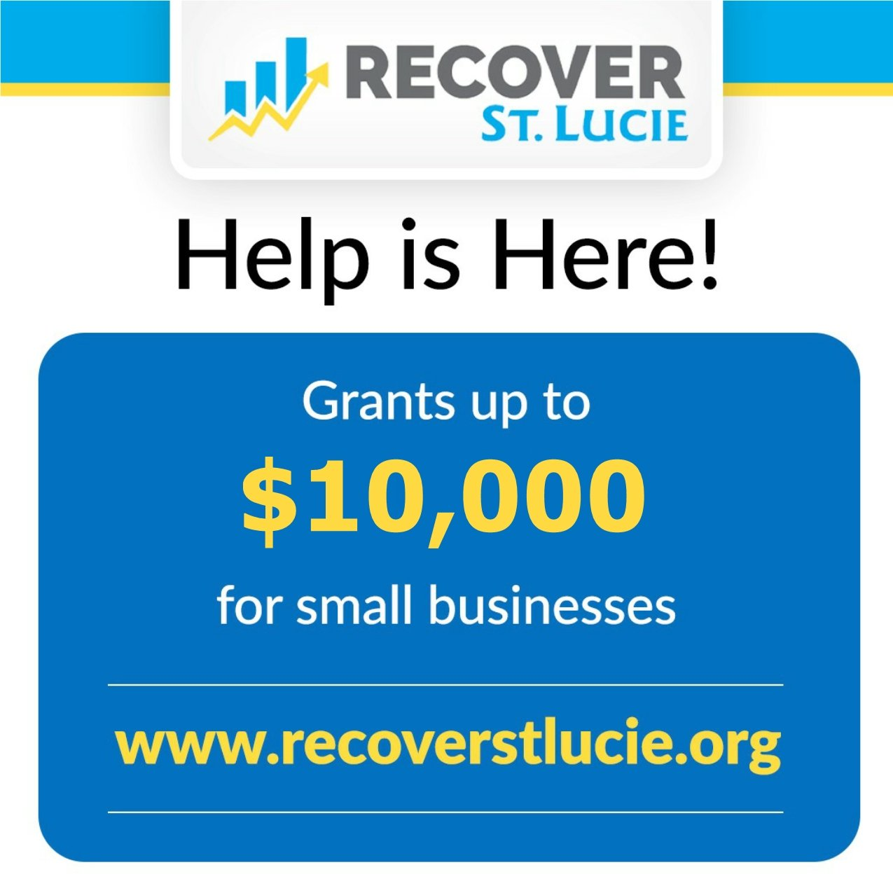 Recover St. Lucie Relief Grants Small Business Graphic