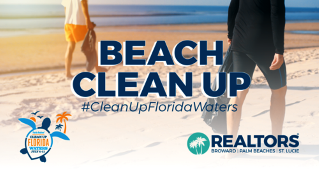 SOUTH FLORIDA REALTORS UNITE TO CLEAN UP FLORIDA WATERS