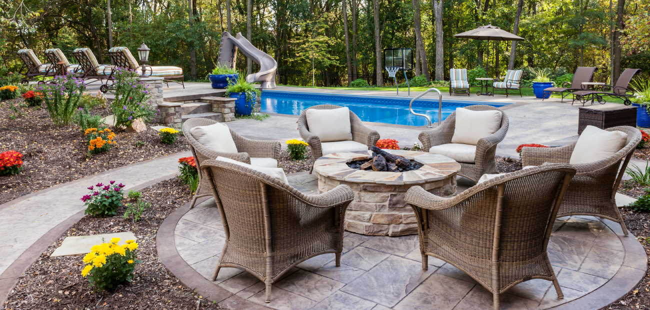 Home Design Trends showing Design for the pool area.