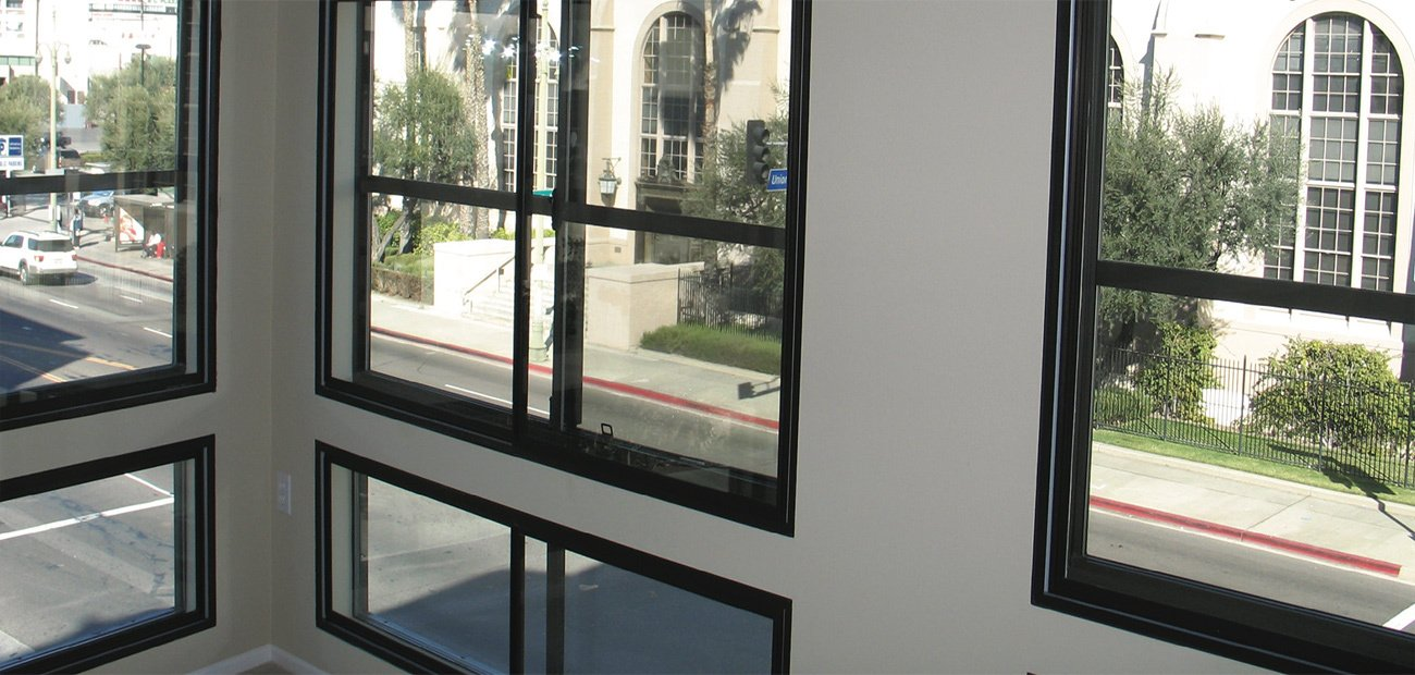 Too Loud - Noises Off - A second layer of windows dramatically lowers outside sounds at the Mozaic at Union Station Apartments in Los Angeles.