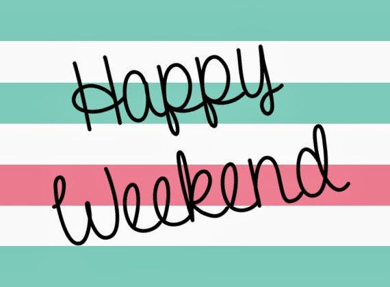 Graphic showing Happy Weekend for Weekend Happenings