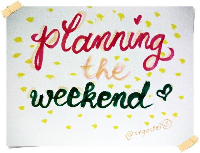 Weekend Happenings - Planning the Weekend graphic