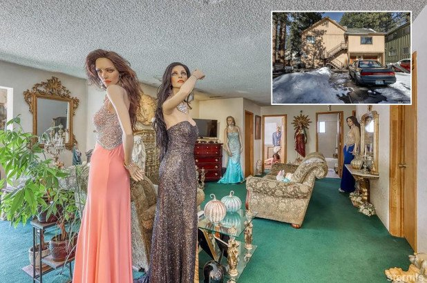 Why is this normal-looking house for sale filled with creepy mannequins