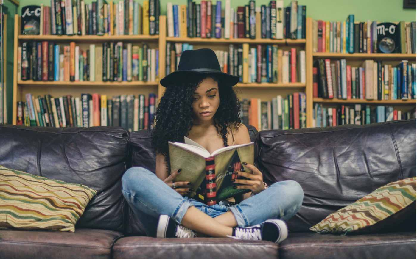 black-girl-woman-reading-studying-homework-pubdomain-Seven-Shooter-