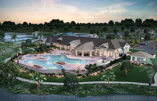 Picture of the Del Webb Tradition Clubhouse in Port St. Lucie, Florida.