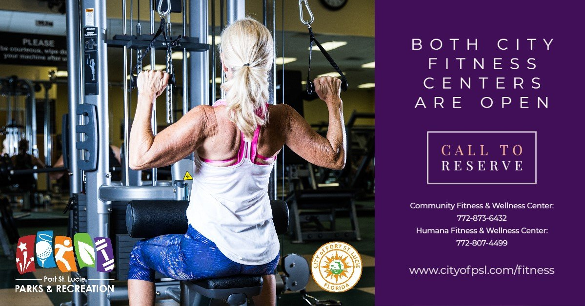 Port St. Lucie City Fitness Center Graphic