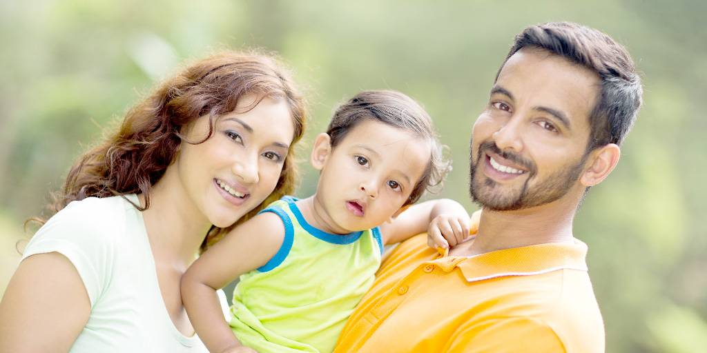 FHA Loan - family with young child
