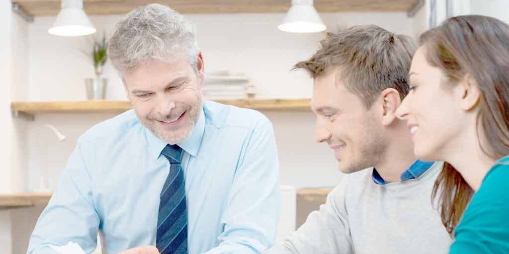 mortgage - loan officer consulting on a hard equity loan