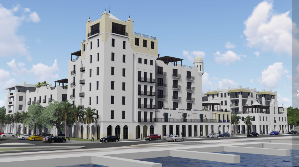 Artist rendering of a proposed commercial and residential project in Fort Pierce, Florida.