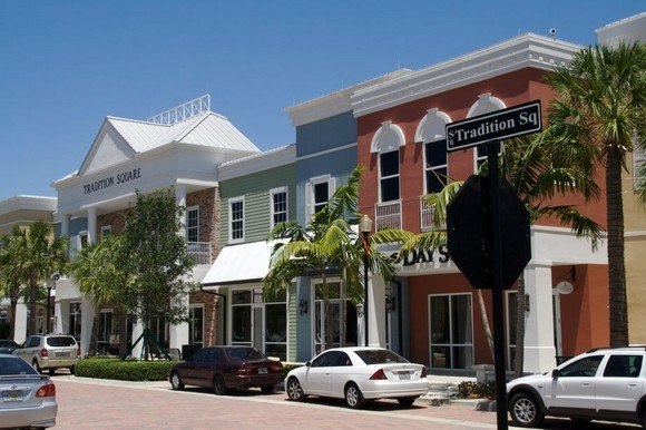 Picture of Tradition Square in Tradition in Port St. Lucie, Florida.